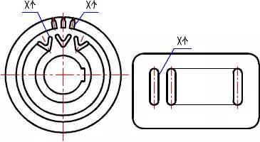 机械制图中常用的图纸简化画法