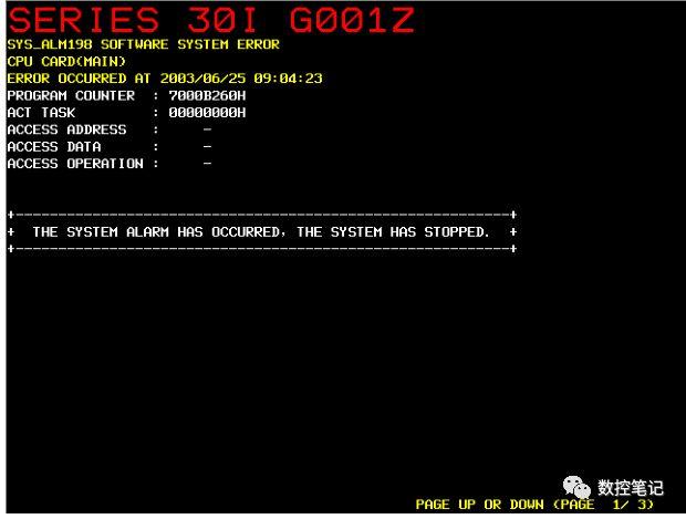 FANUC系统报警SYS_ALM400号之后的报警