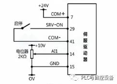 松下A5伺服驱动器的速度控制方式(一)