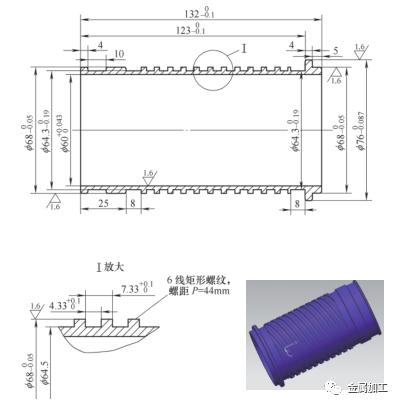 数控车加工多线螺纹的方法