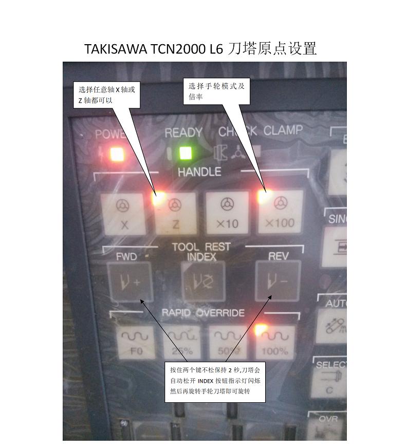 TAKISAWA TCN2000 L6刀塔原点设置