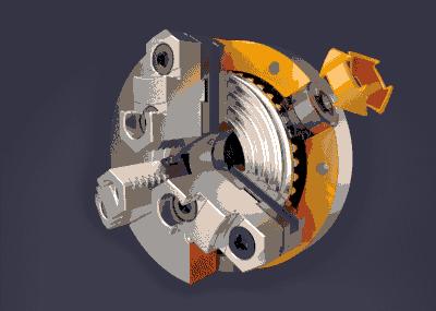 三爪卡盘的机械结构,看看是怎么设计的?